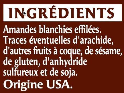 Amande effilée - Ingrédients - fr