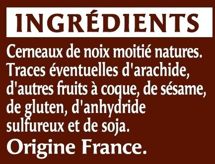 Cerneaux de noix - Ingredients - fr