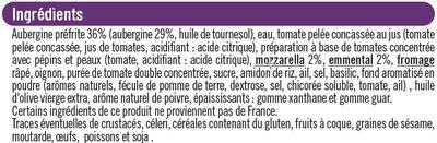 Gratin d'aubergines - Ingredients