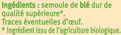 Coquillettes - Ingrédients - fr