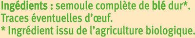 Torsades complètes - Ingredienti - fr