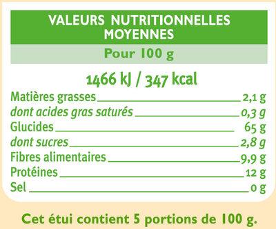 Torsades complètes - Informazioni nutrizionali - fr