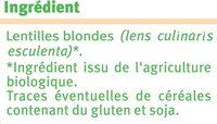 Lentilles - Ingredients