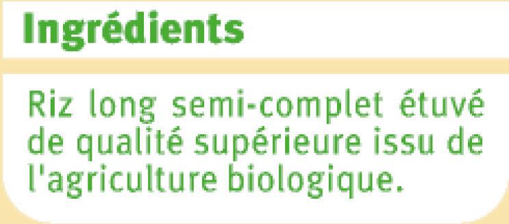 Riz long grain semi-complet - Ingrédients - fr