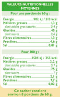 Riz long semi-complet étuvé 10 minutes - Nutrition facts