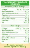 Riz long grain semi-complet - Informations nutritionnelles - fr