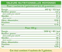 Galettes pur beurre bio - Informations nutritionnelles - fr