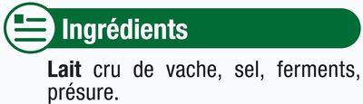 Comté AOP au lait cru 34%mg - Ingrédients - fr