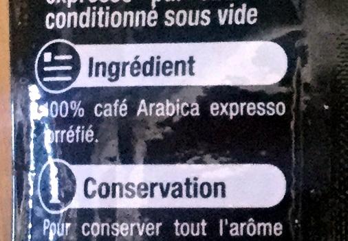 Café moulu Expresso pur arabica - Ingrediënten
