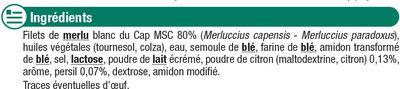 Filets de merlu blanc meunière MSC - Ingrediënten - fr