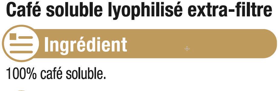 Café lyophilisé extra filtre - Ingrédients - fr