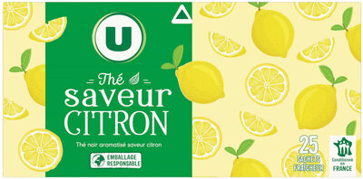 Thé noir saveur citron - Produit - fr