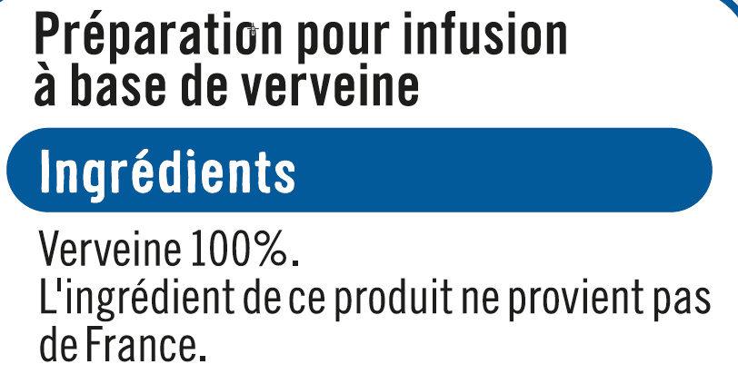 Infusion Verveine - Ingredients