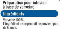 Infusion Verveine - Ingrédients - fr