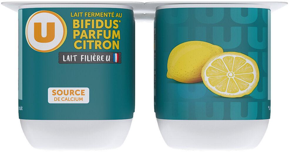 Lait fermenté au bifidus sucré saveur citron - Produit - fr