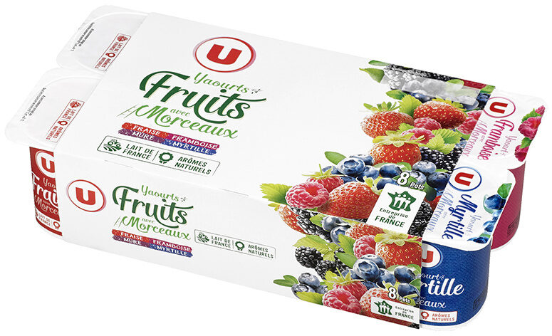 Yaourts au lait entier sucrés aux fruits rouges - Produit