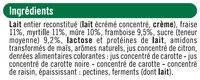 Yaourts au lait entier sucrés aux fruits rouges - Ingredients