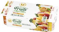 Yaourt au lait entier sucré fruits jaunes poires abricots ananas pêche - Product