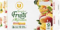 Yaourt au lait entier sucré fruits jaunes mangue, abricots, ananas etpêche - Product - fr