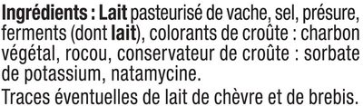 Tomme des Pyrénées lait pasteurisé 28% de MG - Ingredients