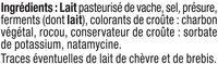 Tomme des Pyrénées lait pasteurisé 28% de matière grasse - Ingrédients - fr