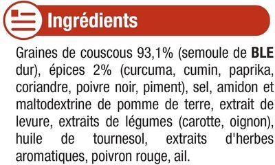 Graines de couscous aux épices - Ingrédients - fr