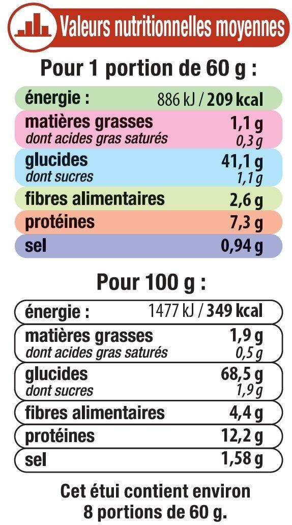 Graines de couscous aux épices - Informations nutritionnelles - fr