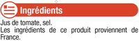 """Jus tomate de Provence """"fruits de chez nous"""" - Ingredients"""
