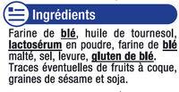 Croûtons ronds frits pour soupe nature - Ingrédients