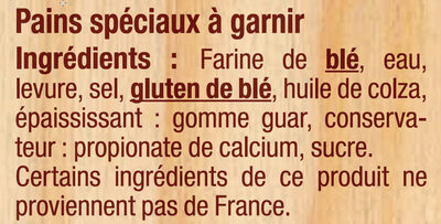 6 pains pita - Ingrédients - fr