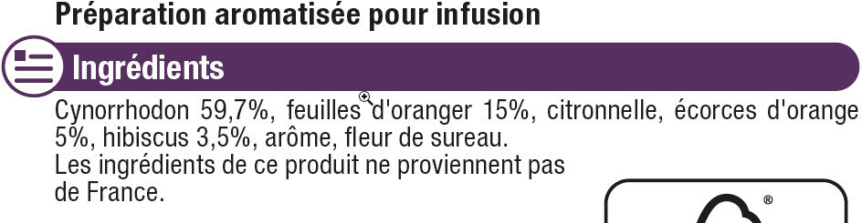 Infusion harmonie et élégance - Ingredients - fr