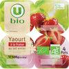Yaourts bio brassés aux fraises - Producto