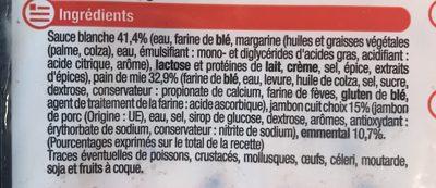 2 Croque-monsieur Gratinés, Poids Total 260 Grammes, Marque U - Ingredients