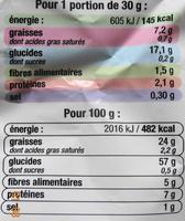 Chips légères Nature, - 30% MG - Informations nutritionnelles - fr