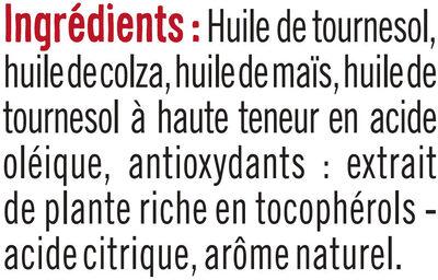 Spécialité huile pour friture nouvelle formule - Ingrédients - fr