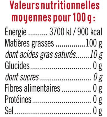 Spécialité huile pour friture nouvelle formule - Informations nutritionnelles - fr