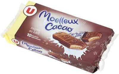 Gateaux moëlleux au cacao fourré au lait - Produit