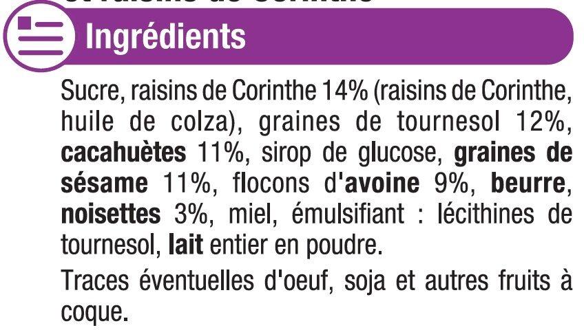 Craquants aux céréales - Ingredients - fr