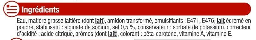 Matière grasse laitière légère doux 15%MG - Ingredients - fr
