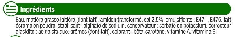 Matière grasse laitière légère 1/2 sel 15%MG - Ingredienti - fr