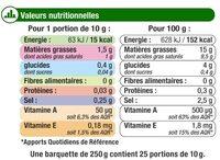 Matière grasse laitière légère 1/2 sel 15%MG - Valori nutrizionali - fr