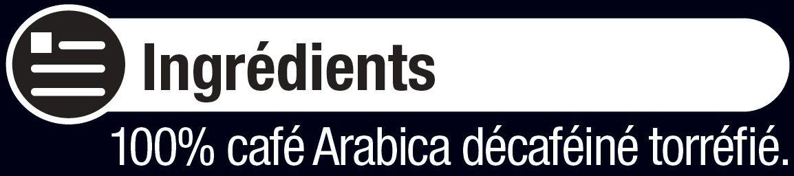 Café arabica décaféiné - Ingredients - fr