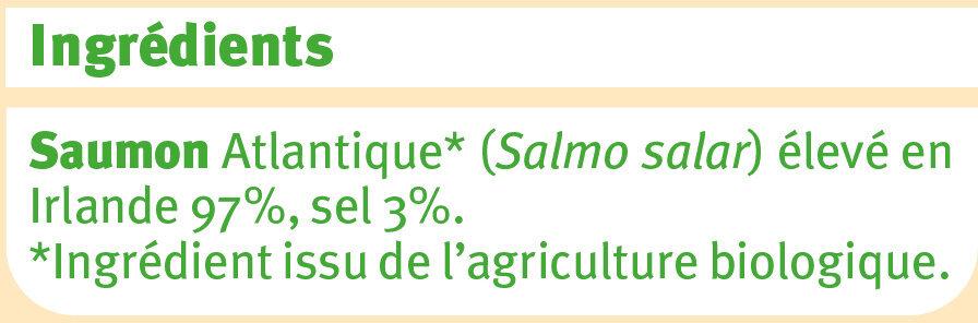 Saumon fumé - Ingredients