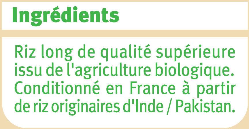 Riz basmati - Ingrédients - fr