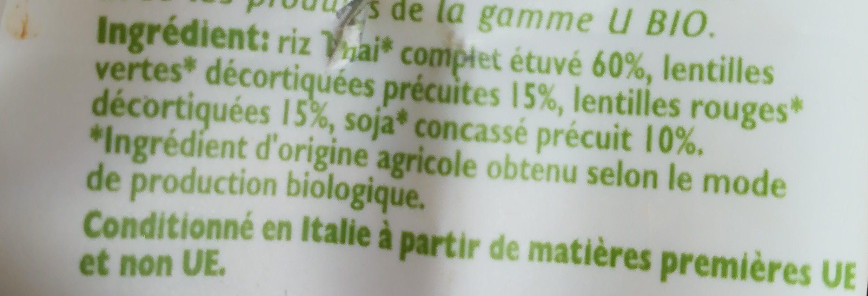 Mélange de riz et légumes secs - Ingrediënten - fr