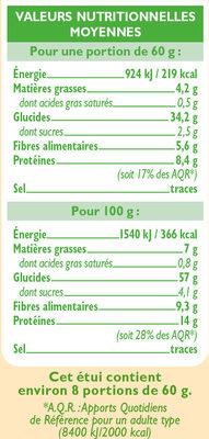 Quinoa bio - Nutrition facts