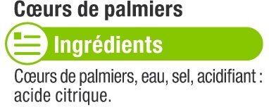 C urs de palmier entiers - Ingredients - fr