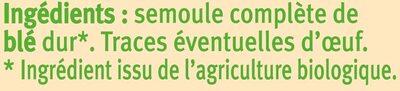 Penne complètes - Ingrédients - fr