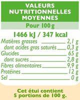 Penne complètes - Informations nutritionnelles - fr