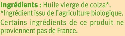 Huile de colza vierge - Ingrédients - fr